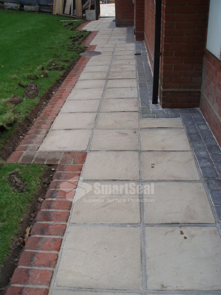 Patio slabs following a thorough pressure clean